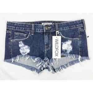 Wildfox Distressed Jean cutoff shorts 25